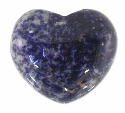 Sodalite Crystal Heart Cut and Polished Mineral - 40mm