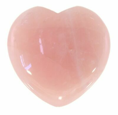 Rose Quartz Crystal Heart Cut and Polished Mineral - 80mm