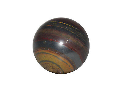 Tiger Iron Crystal Sphere Cut and Polished Mineral - 40mm Diameter