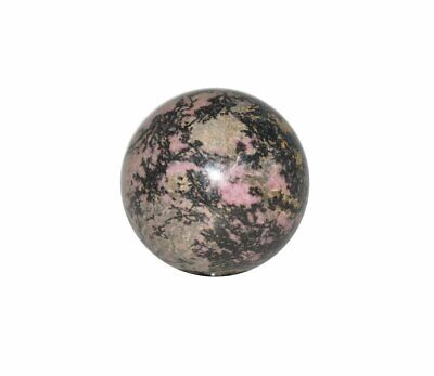 Rhodonite Crystal Sphere Cut and Polished Mineral - 40mm Diameter