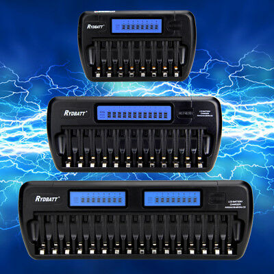 2016 Multi-slots LCD Smart Battery Charger for Rechargeable Ni-MH Ni-Cd AA AAA