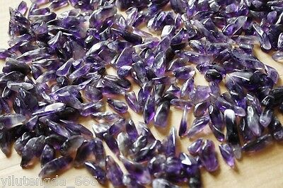 NEW 100% Natural Lot of Tiny Clear Amethyst Quartz Crystal Rock Chips 50g A8B2