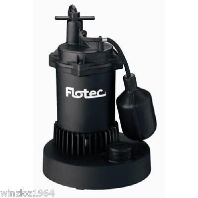 Flotec 1/3 HP Thermoplastic Submersible Sump Pump with Tethered Switch FP0S2400A