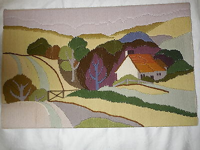 Long Stitch Country Scene And Farmhouse Completed 49 X 31 Cm
