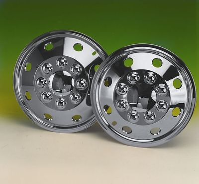 """set  4 15"""" Chrome Plated deep dish wheel trims hub caps covers for Fiat Ducato"""