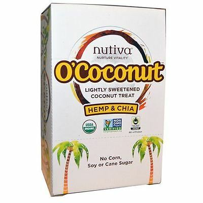 Nutiva O'Coconut Treat Hemp Chia 14g (Pack of 24)