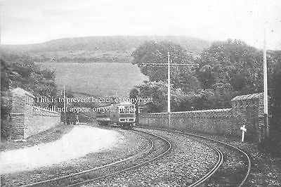 Photo Of Isle Of Man Manx Electric Train On Bridge At Groudle Glen About 1900