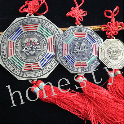 Chinese Feng Shui Chinese Knot Bagua Mirror Home Car Hanging Ornament for Bless