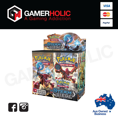 Pokemon XY Steam Siege Booster Box - Free Shipping - Brand New - IN STOCK