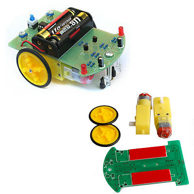 New Module Smart Tracking Robot Car Electronic DIY Kit With Reduction Motor Set