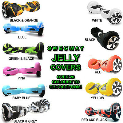 """Silicone Jelly 360° Case Cover for 6.5"""" Scooter Swegway Hoverboard Sweg Way"""