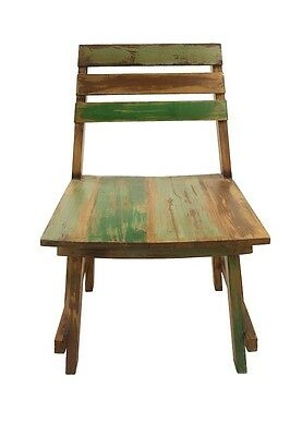 Boat Wood Chair Reclaimed Shabby Chic Nautical Recycled Java Indonesia Rustic