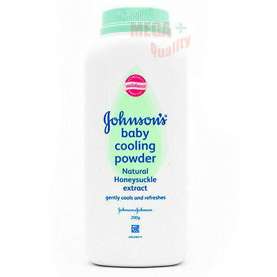 200 g. Johnson s Baby Cooling Cools Refreshes Powder Natural Honeysuckle Extract
