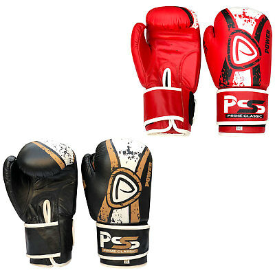 Mens Leather Boxing Glove Training Punching Muay Thai Kick Boxing Punch Bag 1058