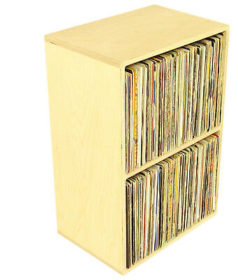 "Quality Birch Ply Vinyl Storage Cube, holds 270 12"" Records, DJ Shelving (RSP2)"