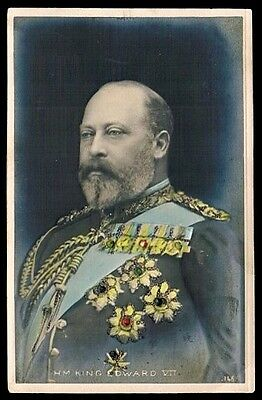KING EDWARD VII • c1908 • Unused Bas-Relief Photo Card • Alliance Series
