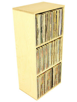 "Quality Birch Ply Vinyl Storage Cube, holds 405 12"" Records, DJ Shelving (RSP3)"
