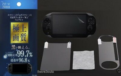 High Quality Screen Protector Set For Sony PS Vita Game Console PSV Screenguard