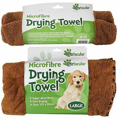 Pet Drying Towel Super Absorbent Microfibre Clean Dry Dogs Cats Puppys Kittens