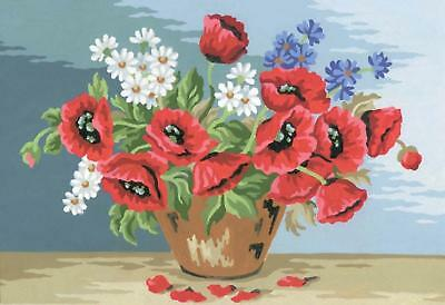 Grafitec Printed Tapestry/Needlepoint Canvas – Poppy Bouquet