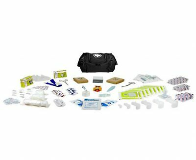 First Aid Responder EMS Medical EMT Emergency Trauma Kit Fully Stocked - Black
