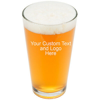 ANY TEXT, Custom Customized Engraved Pint Glasses for Beer, 16 oz Stein New