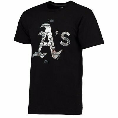 MLB Baseball T-Shirt OAKLAND ATHLETICS A's Clubhouse Fashion AuthenticCollection
