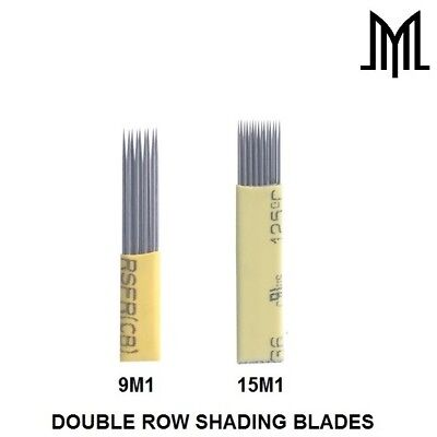 DOUBLE ROW Microblading Needles - SPMU Permanent Makeup Manual Eyebrow Blade