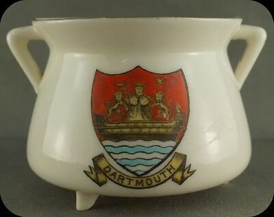 Vintage Crestware 3 Legged Pot Dartmouth W H Coss Crest Ware
