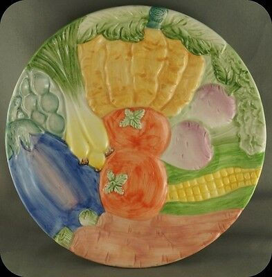 Fitz and Floyd Vegetable Garden Plate 7 1/2""
