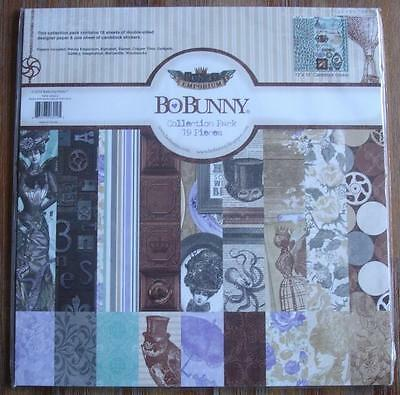 Penny Emporium Collection Pack 19 Pieces + Sticker Sheet 12x12 Steampunk BoBunny
