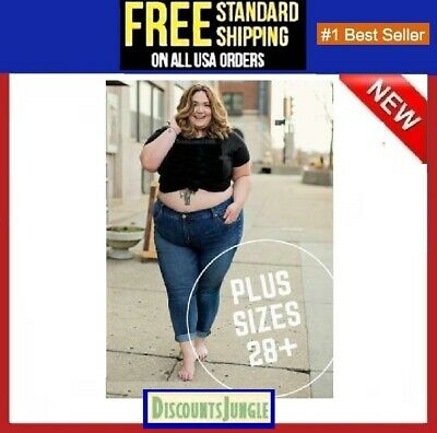JD EXTENDED PLUS SIZE WOMENS Relaxed Fit Straight Leg Stretch DENIM JEANS PANTS