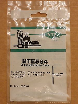 NTE584 ECG584 1N5712 1N5713 20V 35mA Silicon Schottky Barrier Diode DO-35 NEW