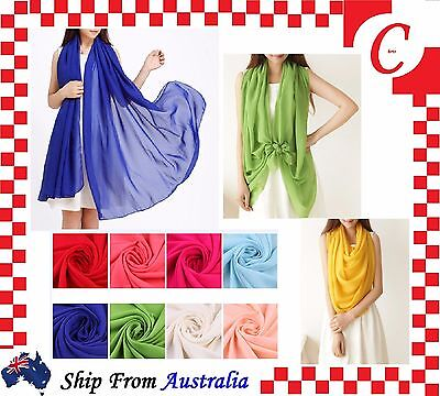 Bridesmaid Chiffon Cocktail Pashmina Scarf Stole Wrap Shawl Women Beach Cover