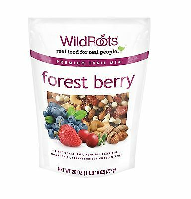 WildRoots Forest Berry Trail Mix 26 oz 100% Natural Deliciously Simple Snack