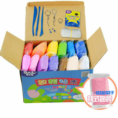 480g 24 Color Plasticine Super Light Clay for Model Maker Air Dry Clay Fun Toy