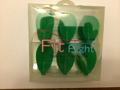 Cosmo Fit Flights Pack Of 6 Green Pear Shape