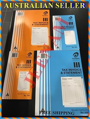 Olympic 724 / 726 / 624 / 626 Duplicate Tax Invoice & Statement Book + FREE SHIP
