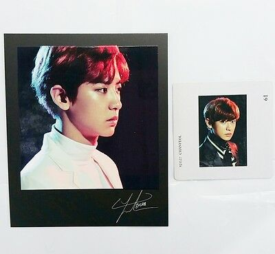CHANYEOL Polaroid&Mount Photo card set exo planet#3 concert Official goods exact