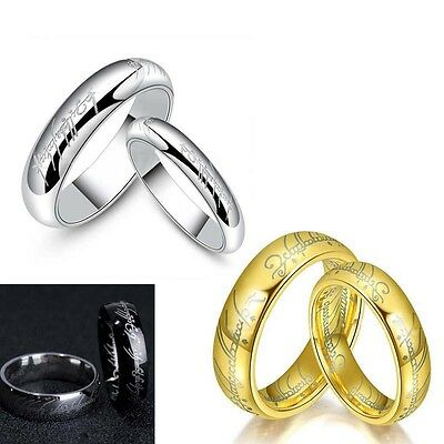 Lord of the Rings The One Ring Titanium Steel Fashion Men's Boy Ring Size 6-13