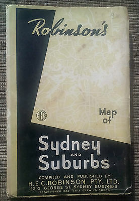 Robinson's Map of Sydney and Suburbs. 9th edition.