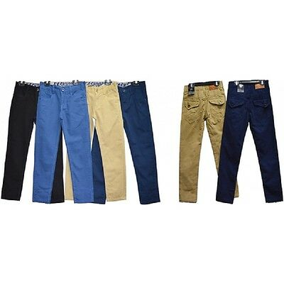 Boys Plain Trouser Chinos Regular Fit Party/Casual Dressing Cotton Pants