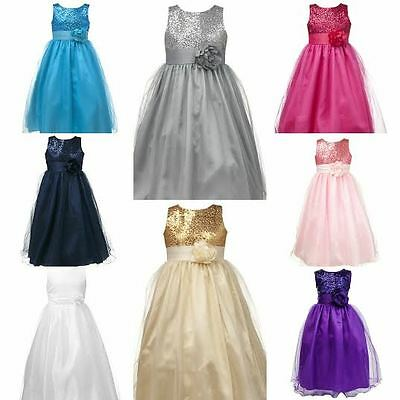Stunning Princess Girls Bridesmaid Wedding Special Occasion Dress +Free Delivery