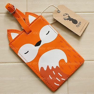 Cotton On Cute Fox Holding Heart travel luggage tag
