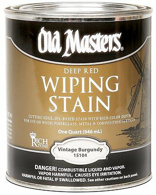 Old Masters Wiping Stain Vintage Burgundy Quart