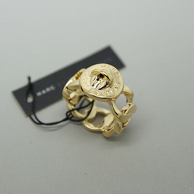 Orig. Marc by Marc Jacobs Logo 'Turnlock - Katie' Ring gold m0001190 $58 57mm