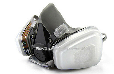 3M 6200 7Pcs Suit 6001 Spray Painting Protection Respirator Face Gas Mask SDH022