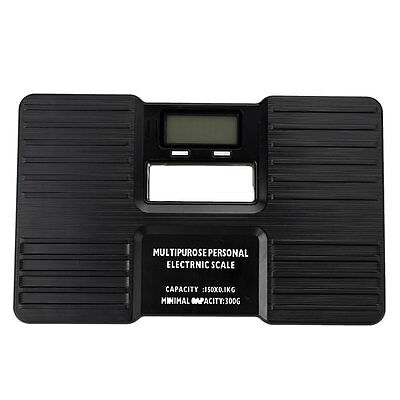 Digital Electronic Body Bathroom Scale Personal LCD Health Fitness Black