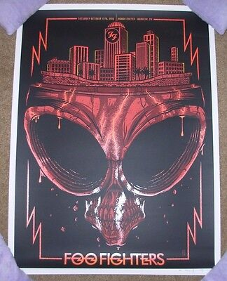 FOO FIGHTERS concert gig poster print ANAHEIM 10-17-15 2015 jim mazza DINGED sn