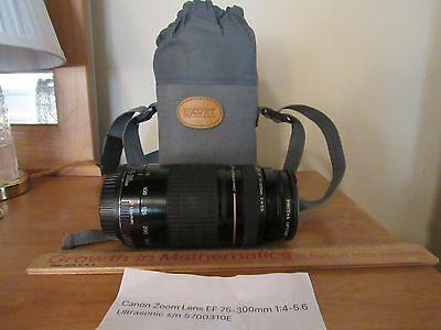 Canon Zoom Lens EF 75-300 mm 1:4-5.6 Ultrasonic with case